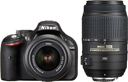 Amazon Canada Nikon D5200 24 1 Mp Cmos Digital Slr Camera Black With 18 55mm F 3 5 5 6g Af S Dx Vr And 55 300mm F 4 5 5 6g Ed Vr Af S Dx Nikkor Zoom Lenses