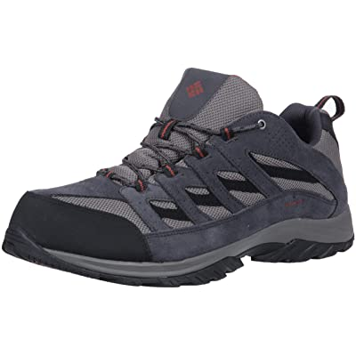 Columbia Men's Crestwood Waterproof Wide Hiking Shoe, Quarry, Burgundyy, 16 Wide US | Hiking Boots