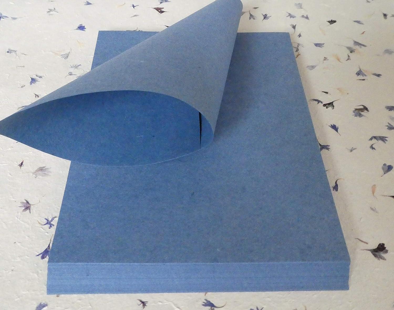 Jeanspapier aus recyceltem Denim handgesch/öpftes B/üttenpapier A4 40 Bogen geriest B/üttenpapier f/ür Handschrift und Drucker paperfreak