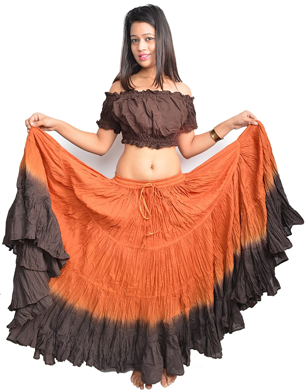 Wevez Womens ATS Tribal Dip Dye 25 Yard Skirt