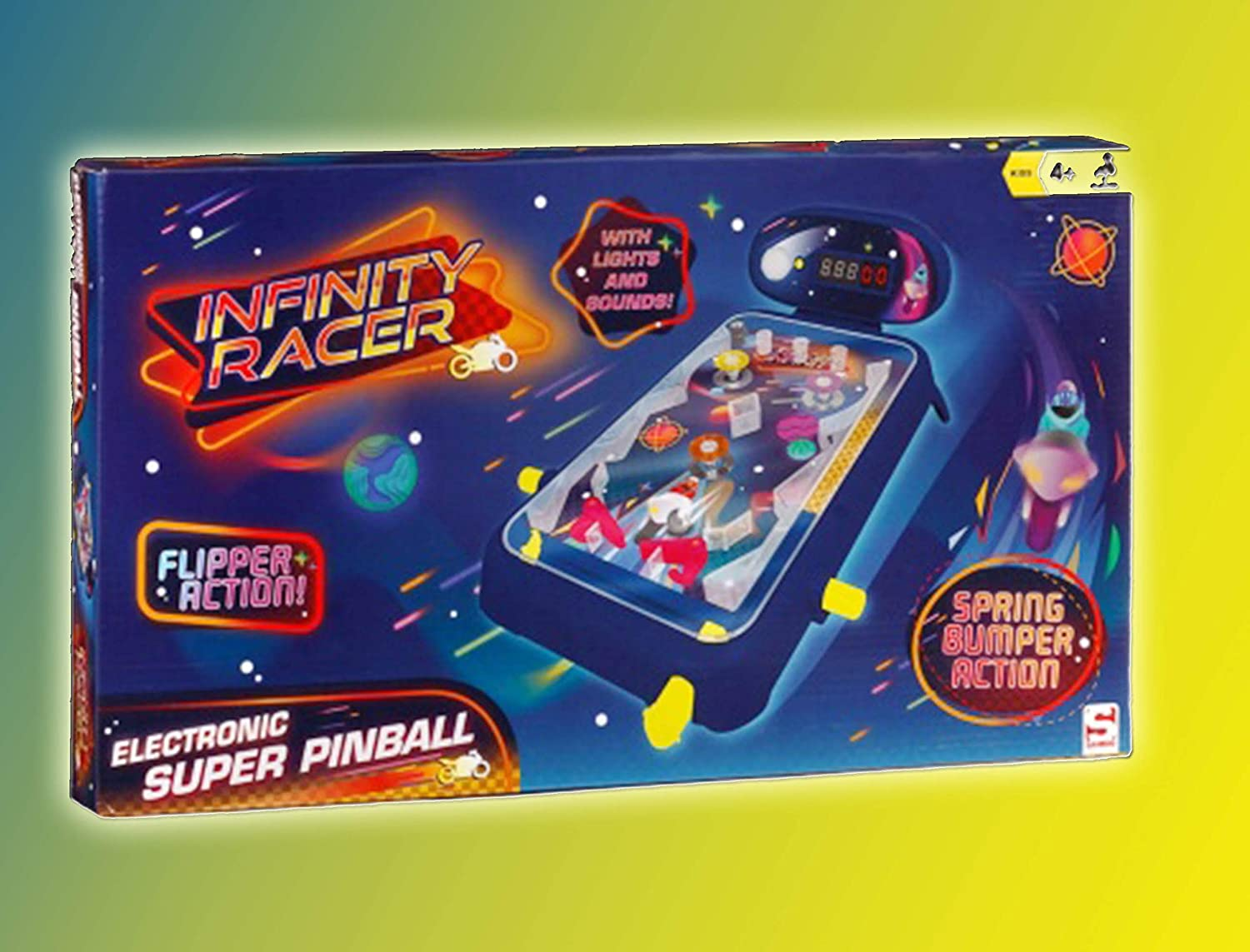New Brilliant Electronic Children's Super Table Pinball Game Machine with Sounds Scotrade