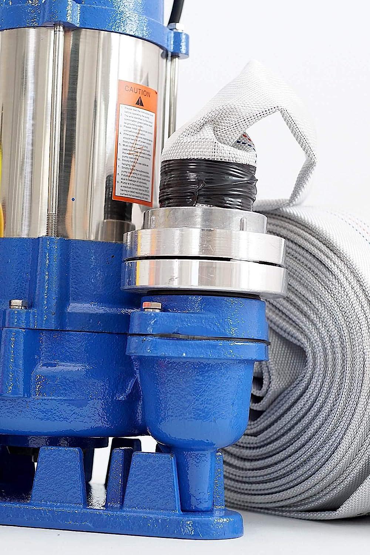 Trockenlaufschutz 550W F/äkalienpumpe Schmutzwasserpumpe Tauchpumpe Abwasserpumpe mit Schneidwerk 12000 L//h 20m C-Schlauch /Überspannungsschutz
