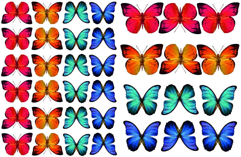 Stickers4 36 Superbe Coloré Papillon électrostatique pour Fenêtre Stickers - La Décoration de la Maison
