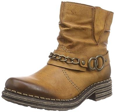 Damen Stiefel von Rieker Gefüttert Gr.37 Echtes Leder Braun