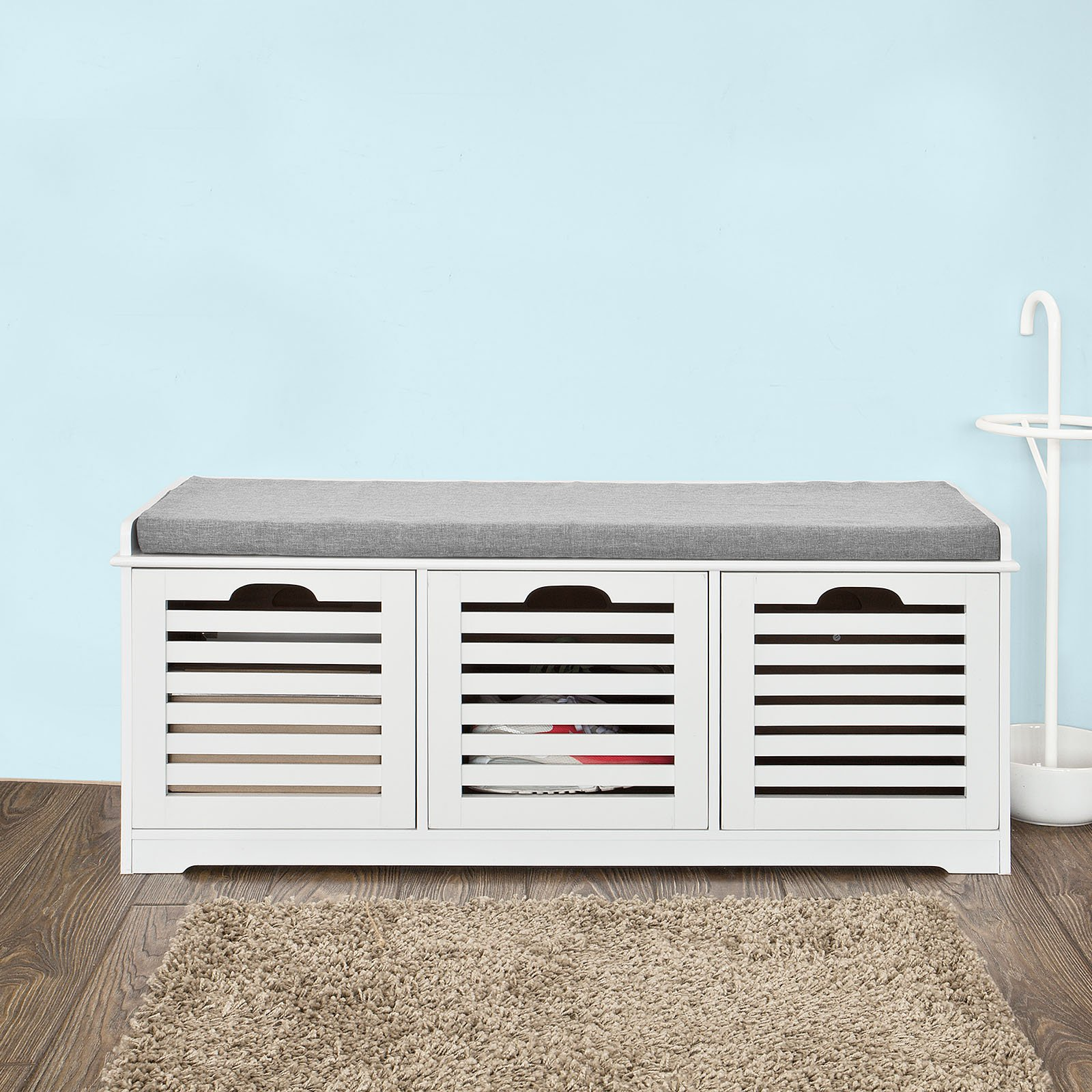 Haotian Storage Bench,Shoe Cabinet,Shoe Bench,Storage Cabinet (FSR23-W) by Haotian