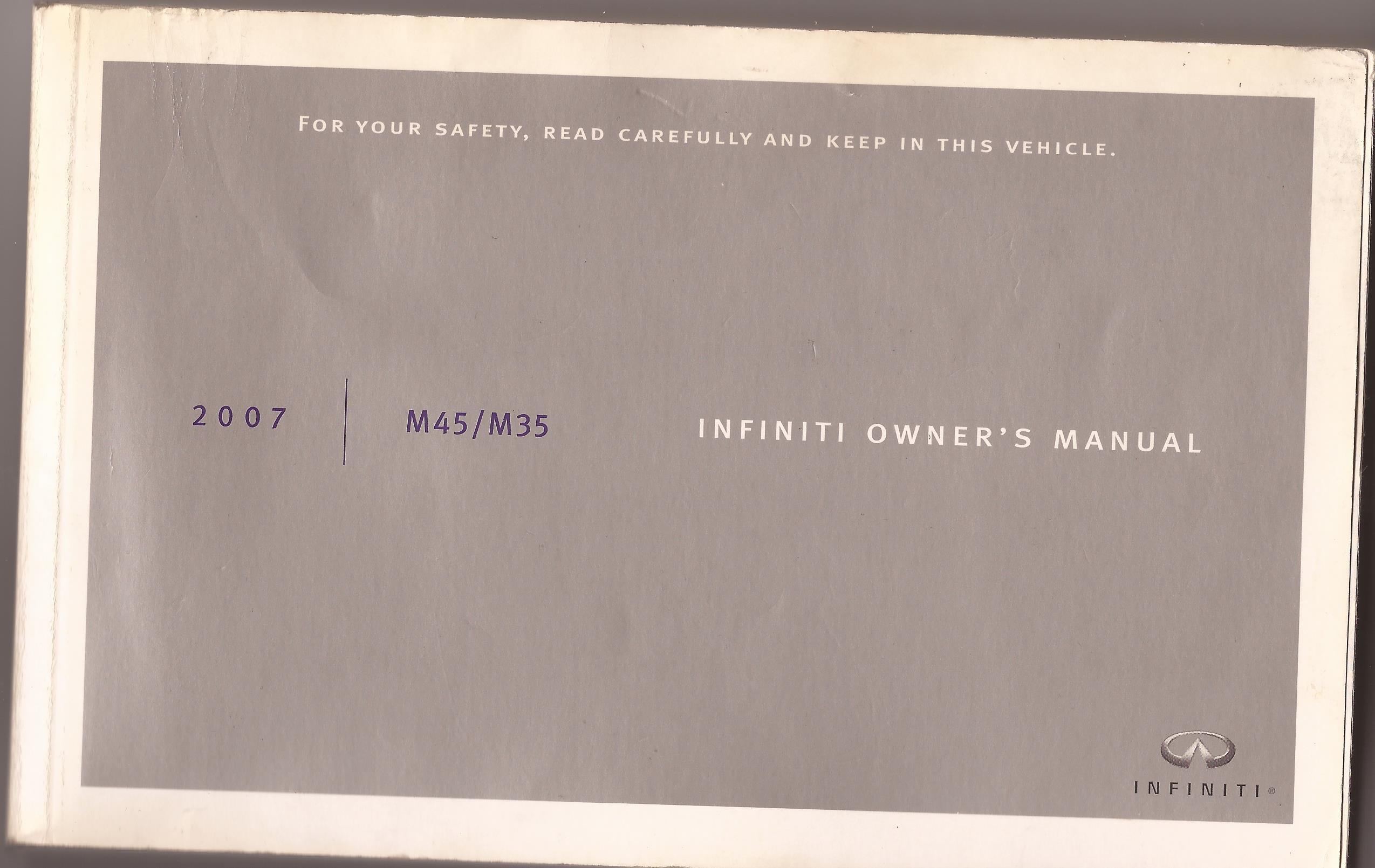 2006 infiniti m35 owners manual.