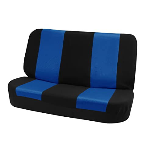 Superb Fh Group Fh Fb102010 Classic Cloth Bench Seat Covers Blue Black Color Universal Car Truck Suv Or Van Cjindustries Chair Design For Home Cjindustriesco