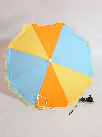 Parasol muy fácil de acoplar al carrito, incluye Flexo para orientar facimente y protegerle del sol. sombrilla carrito bebe universal KOKETES, MOBIBE, ...