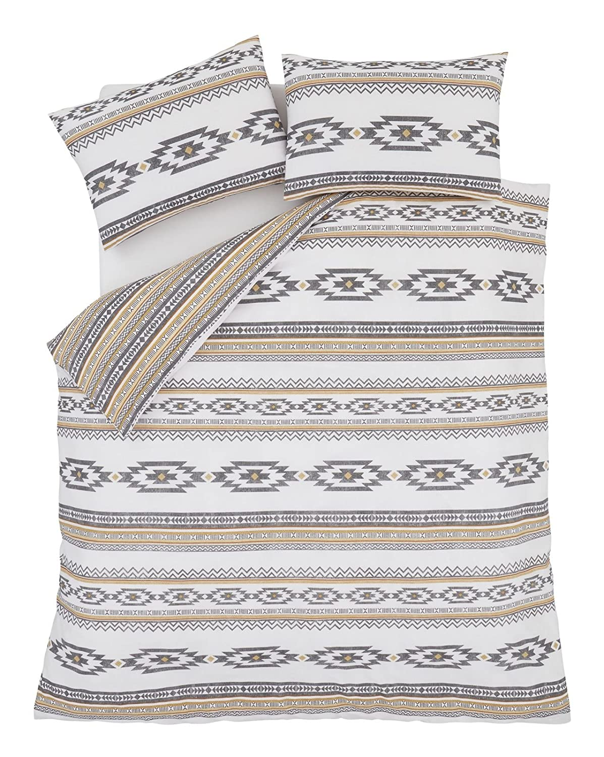 bianca cotton linen set duvet aztec embroidered cover bath