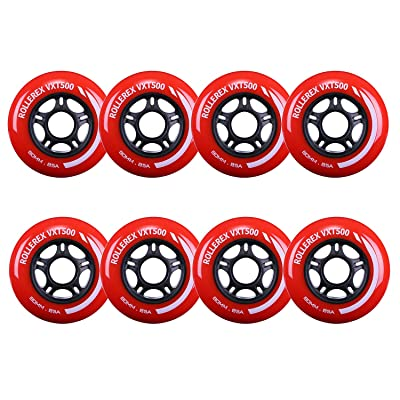 Rollerex VXT500 Inline Skate Wheels (8-Pack) : Sports & Outdoors