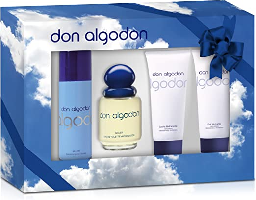 Don Algodon Agua de Colonia + Leche Corporal + Desodorante Vaporizador + Gel de Ducha - 1 Pack: Amazon.es: Belleza