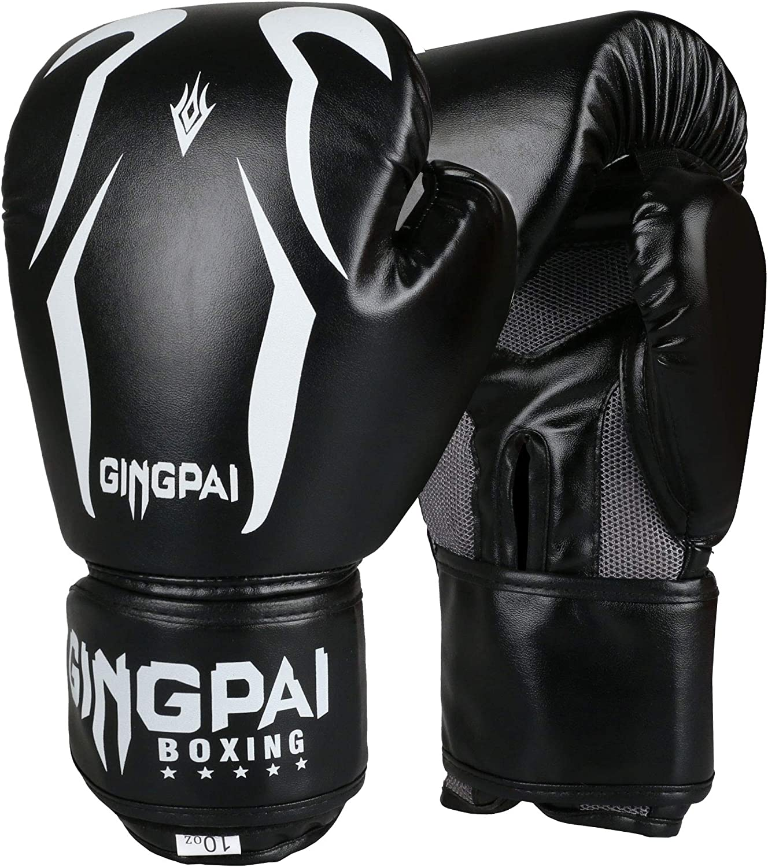 Boxing Gloves Leather MMA Muay Thai Sparring Training Punching Bag For Men Women