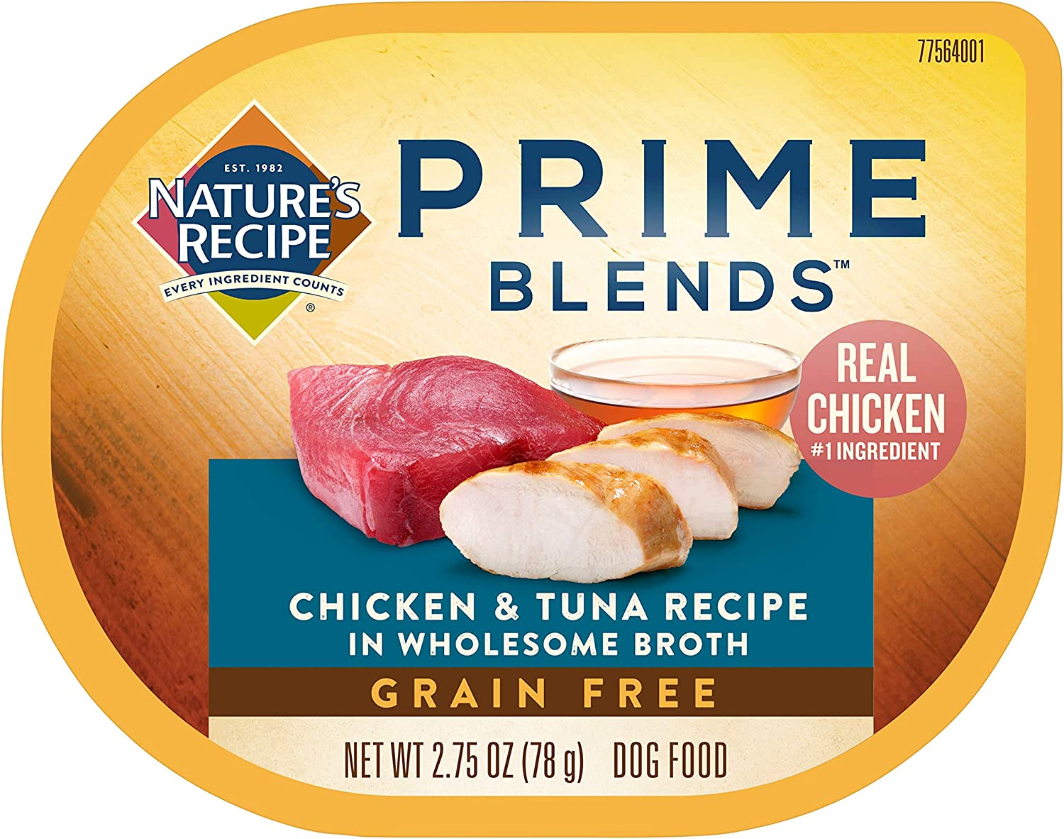 Nature's Recipe Prime Blends Wet Dog Food, Chicken & Tuna Recipe, 2.75 Ounce Cup (Pack of 12)
