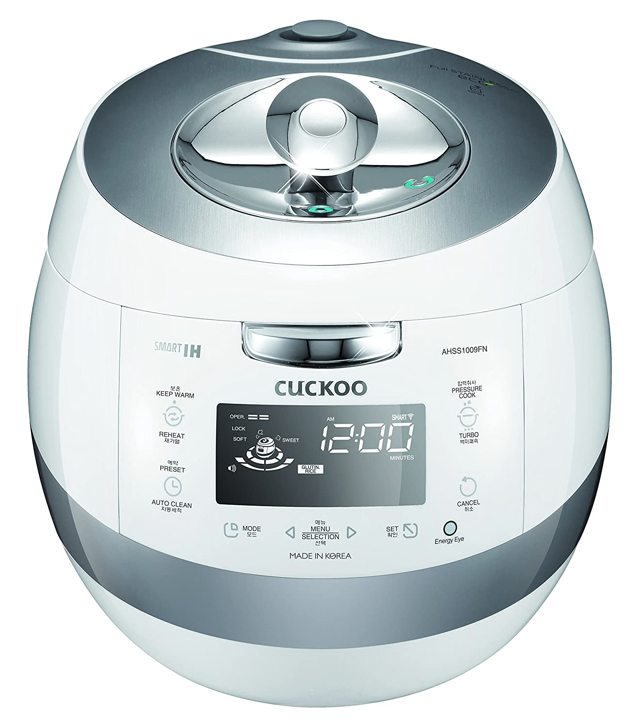 Cuckoo CRP-AHSS1009FN Pressure Rice Cooker 5 Liters / 5.3 Quarts White