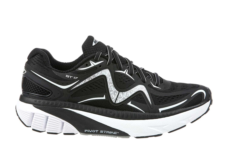 MBT Shoes Men's GT 17 Athletic Shoe Leather/Mesh Lace-up 7.5 Medium (D) US Men|Black/White