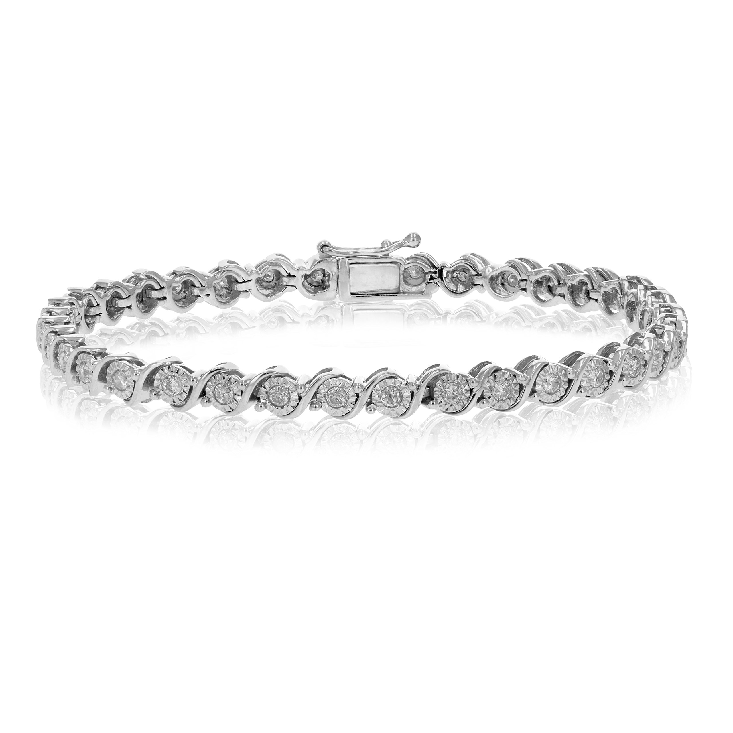 1 CT I1-I2 AGS Certified Diamond Bracelet in 10K Gold 11 Grams (I-J)