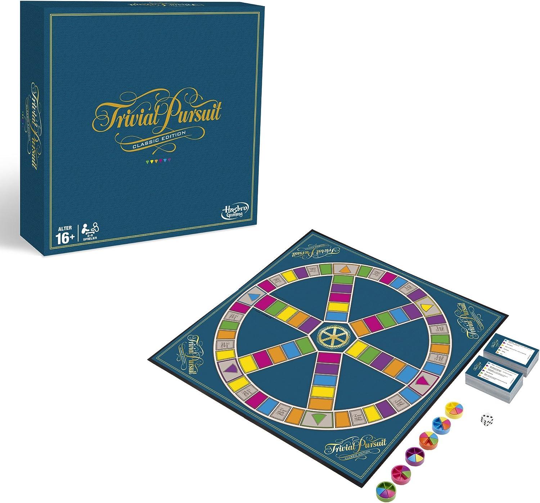 Hasbro Trivial Pursuit Classic Edition Niños y Adultos Juego Educativo - Juego de Tablero (Juego Educativo, Niños y Adultos, 16 año(s)): Amazon.es: Juguetes y juegos