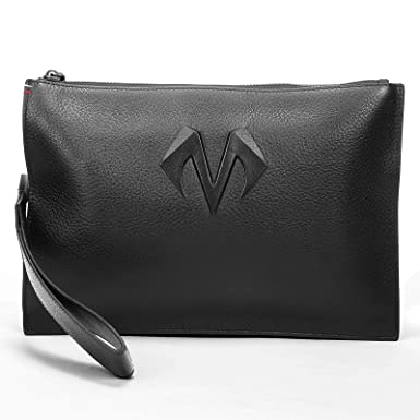 9b8375c03092 BABAMA Men & Women Wristlets Wallet Genuine Leather Unisex Cowhide Clutch  Bag Zip Handbag Purse