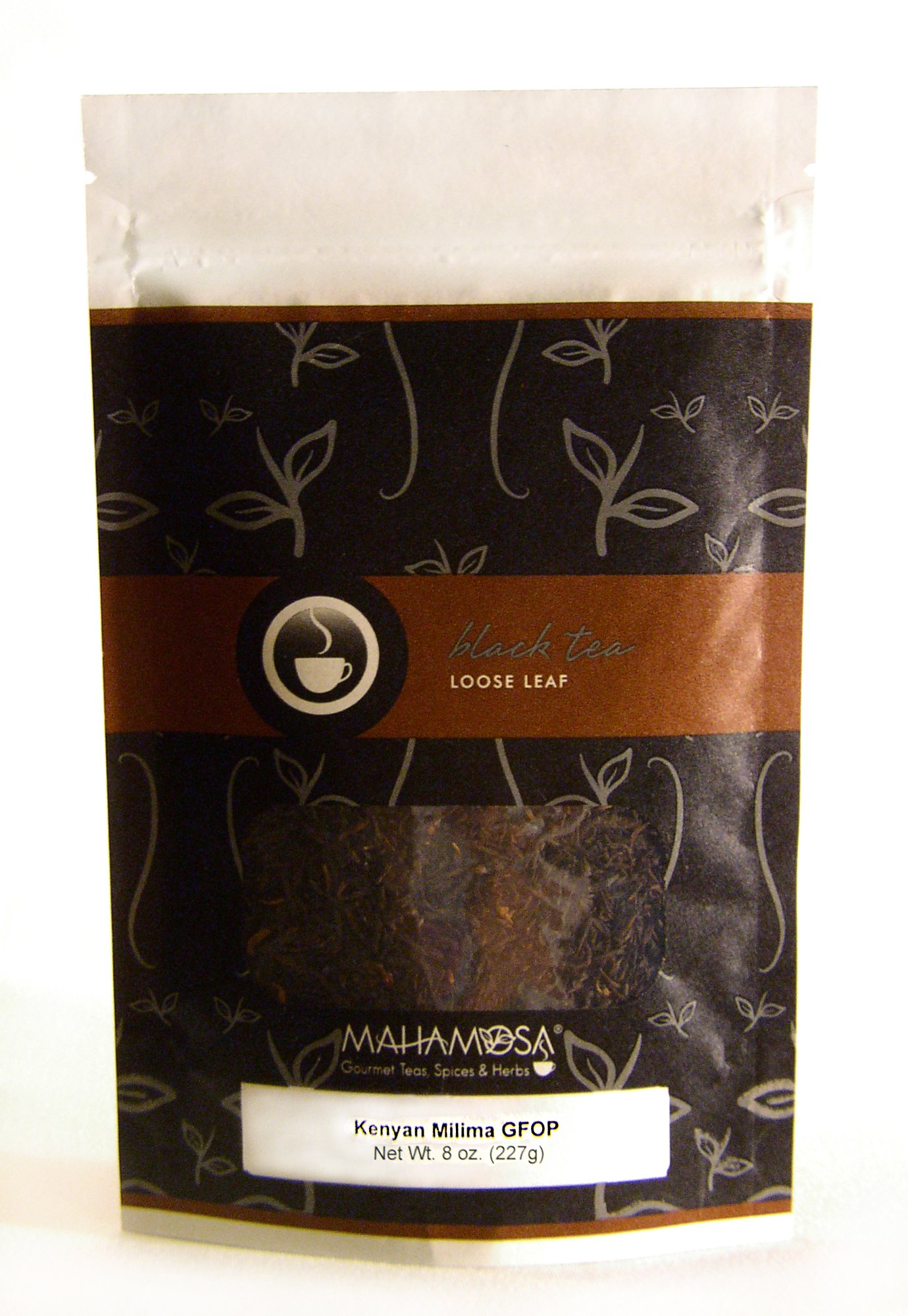 Mahamosa African Black Tea and Tea Infuser Set: 8 oz Kenyan Milima GFOP Black Tea, 1 Stainless Steel Tea Ball Infuser (Bundle- 2 items)(Tea Ingredients: Kenyan black tea)