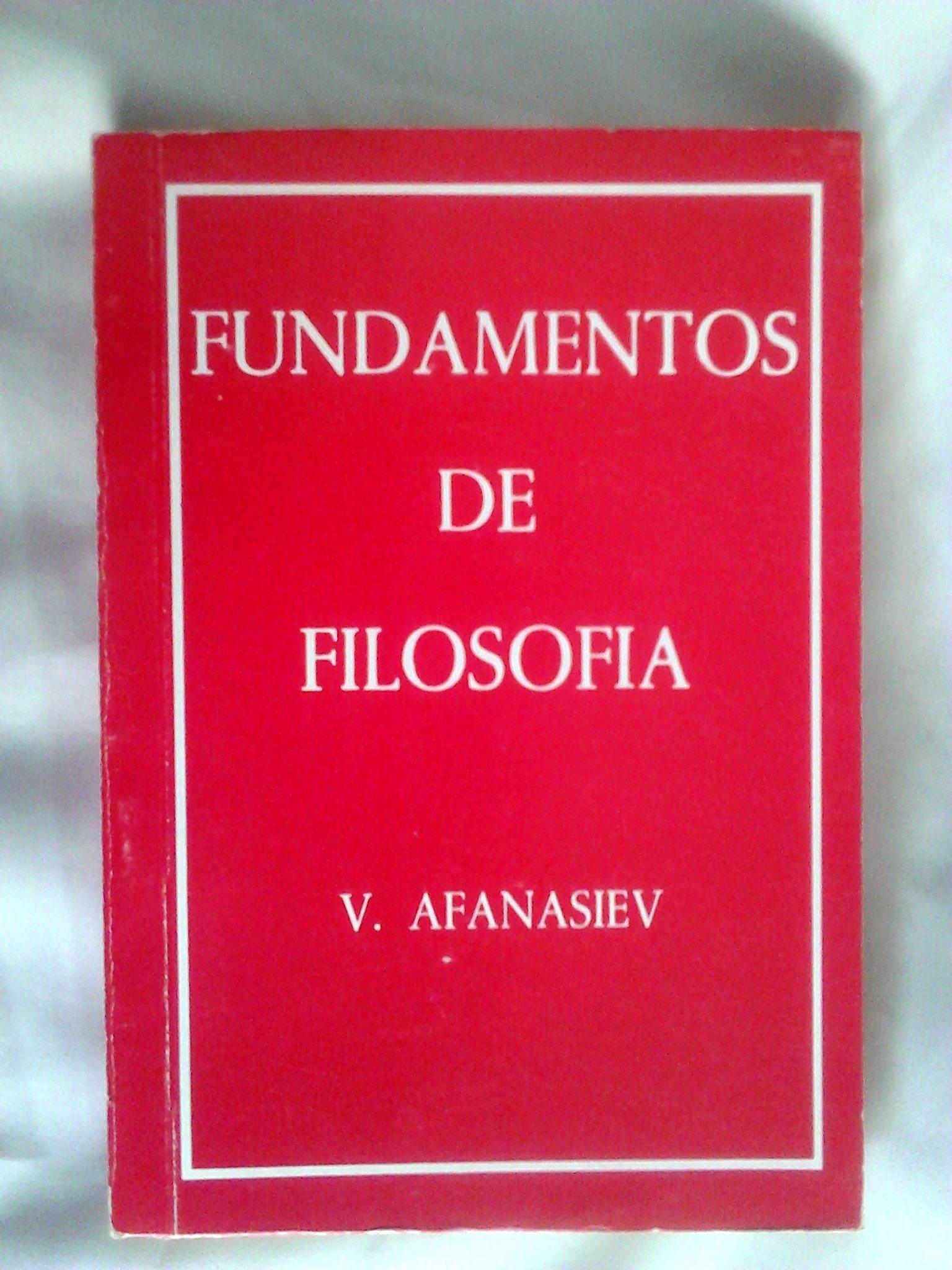 FUNDAMENTOS DE FILOSOFÍA: V. Afanasiev: Amazon.com: Books