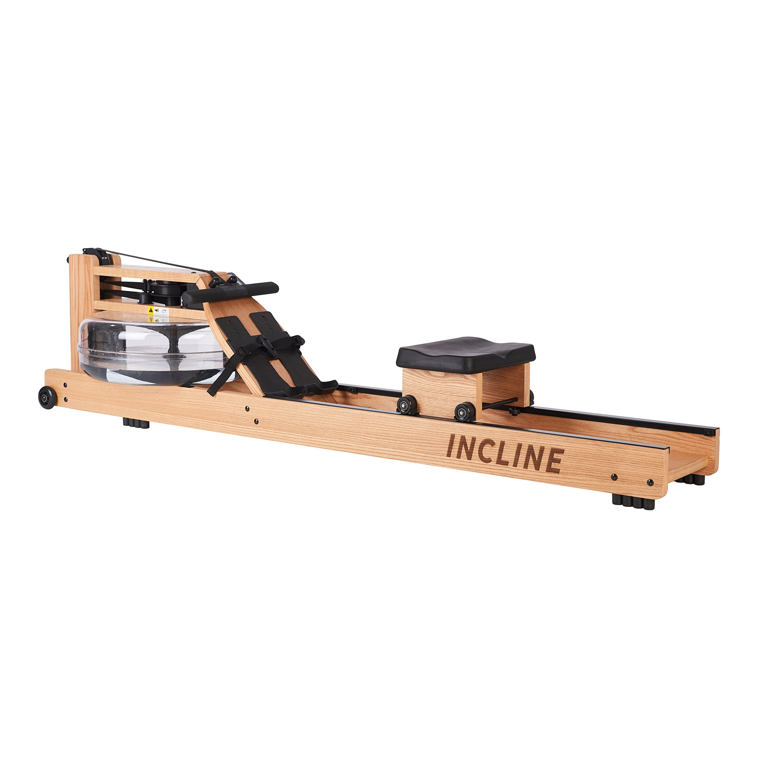 Incline Fit Wood Water Rowing Machine with Monitor by Incline Fit