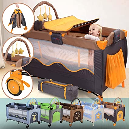 Lit Parapluie Bebe 126x66x82 Cm Avec Table A Langer Arche De