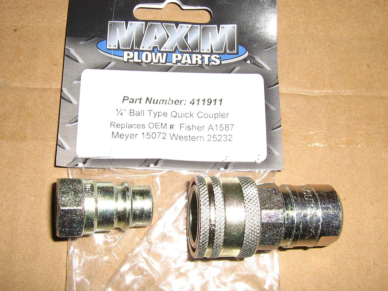 """Meyer Snow PLOW 1/4"""" Male & Female Quick Coupler Meyer # 15072 Stock # 1304025 ;#G344T3486G 34BG82G285797"""