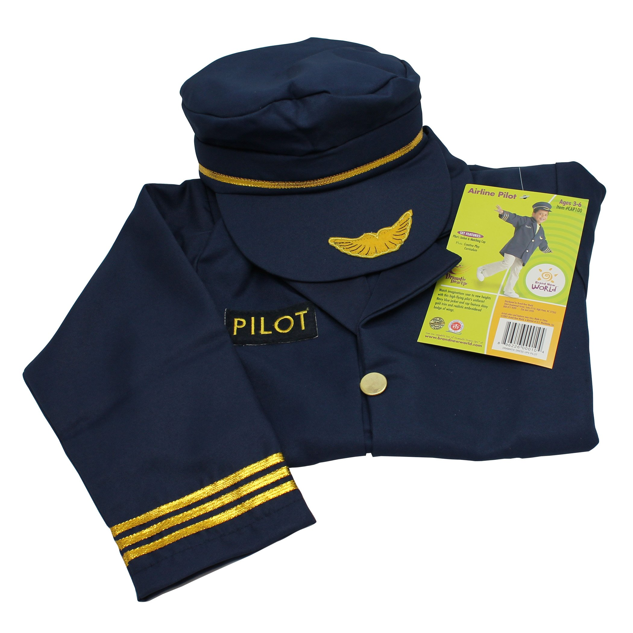 Brand New World Community Helper Airline Pilot Dramatic Dress Up