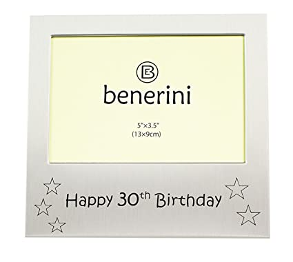 Amazon.com - benerini Happy 30th Birthday - Photo Frame Gift - Photo ...