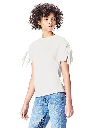 FIND T-Shirt con Nastri sulle Maniche Donna