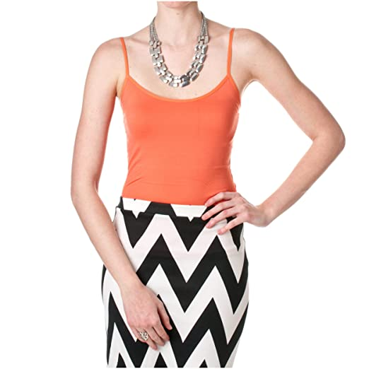 b8e4bd8eed2f Riverberry MOA Collection Seamless Light Control Camisole, Coral, One Size