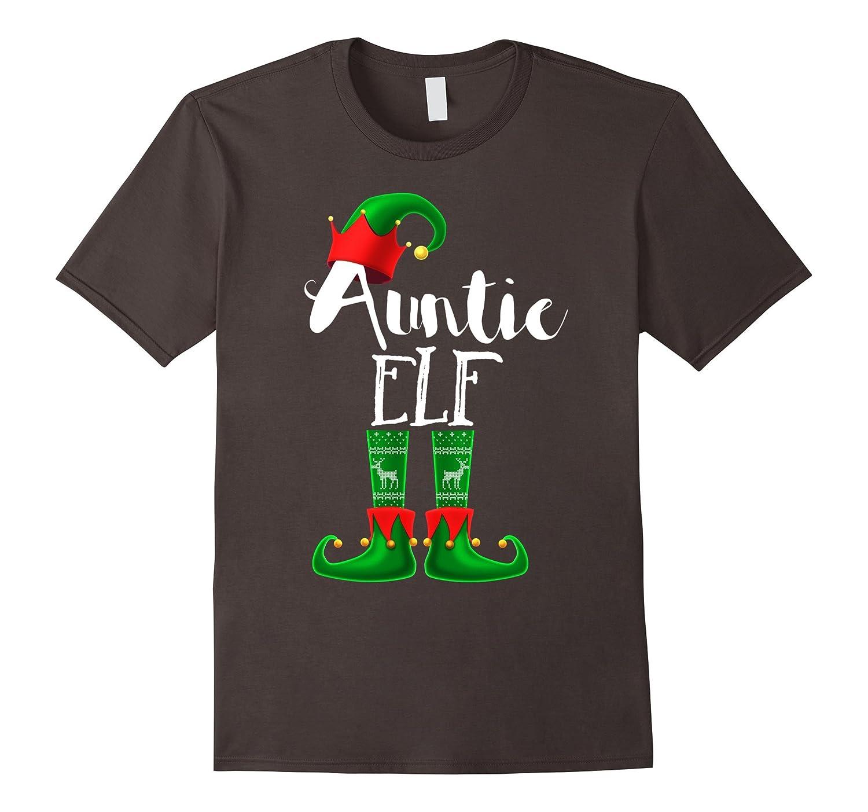 Matching Family Christmas Pajama Auntie Elf Shirt PJ Shirt-ANZ
