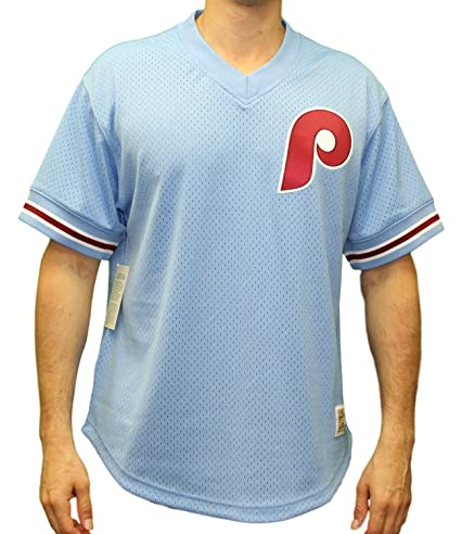 Philadelphia Phillies Mitchell   Ness MLB Men s  quot Game Winner quot  Mesh  Jersey Shirt be564ec1a
