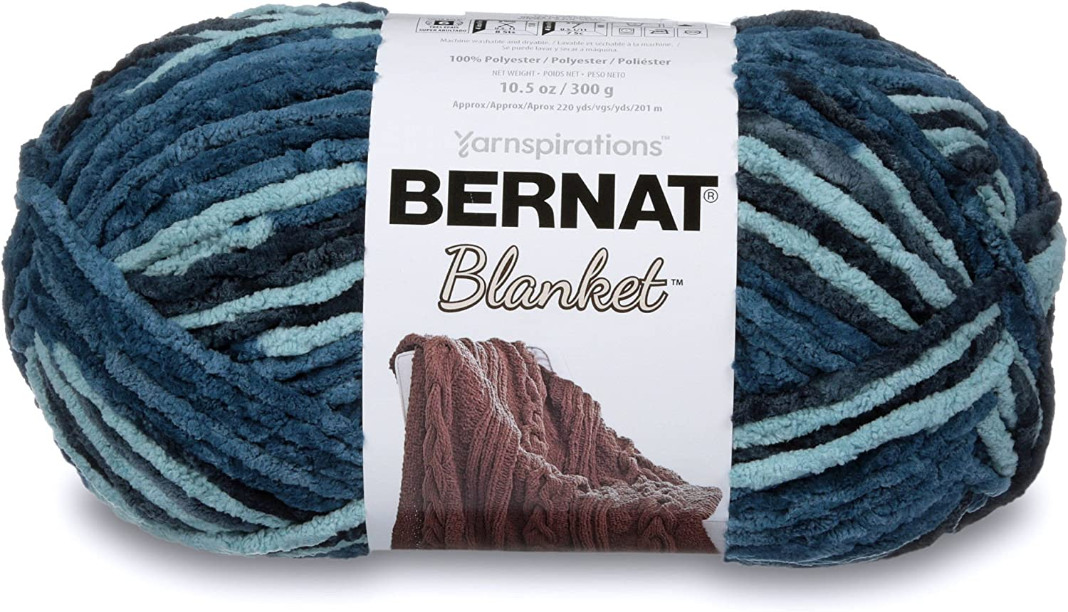 Bernat Blanket Yarn, Teal Dreams