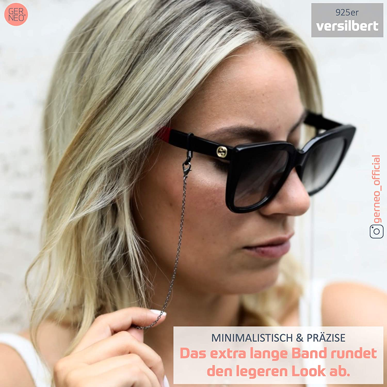 korrosionsbest/ändige Brillenkette vergoldet oder versilbert einzigartig hochwertige Brillenkette /& Brillenband f/ür Sonnenbrillen /& Lesebrillen ORIGINAL GERNEO/®