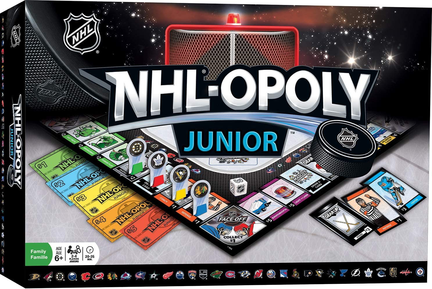 MasterPieces NHL Opoly Junior Board Game, for 2-4 Players, Ages 6+