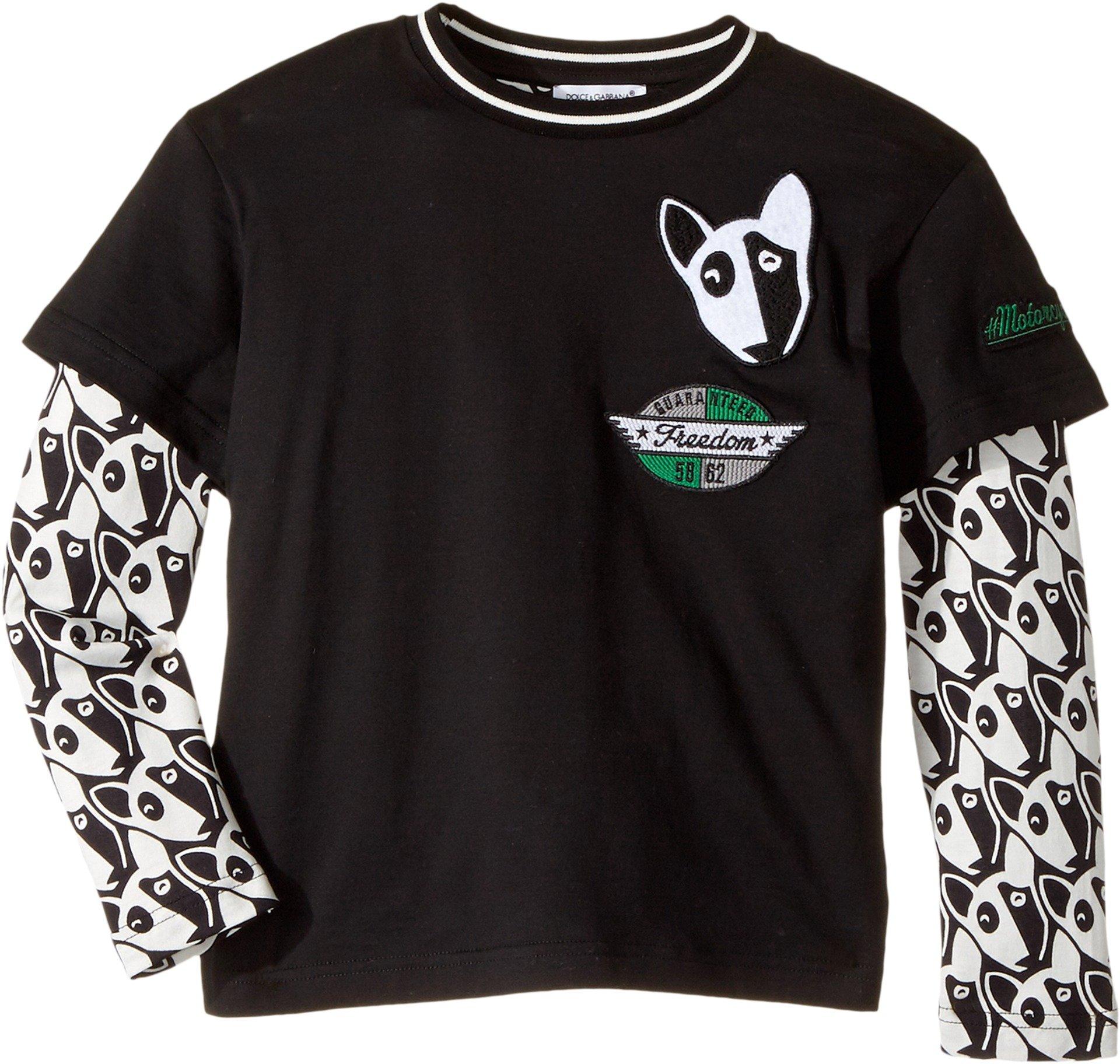 Dolce & Gabbana Kids Baby Boy's Bull Terrier T-Shirt (Toddler/Little Kids) White 6 Little Kids