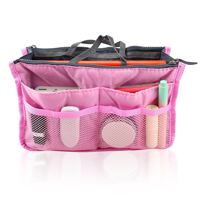 DierCosy Pink Women Travel Insert Handbag Organiser Purse Large liner Organizer Tidy Bag PHTL