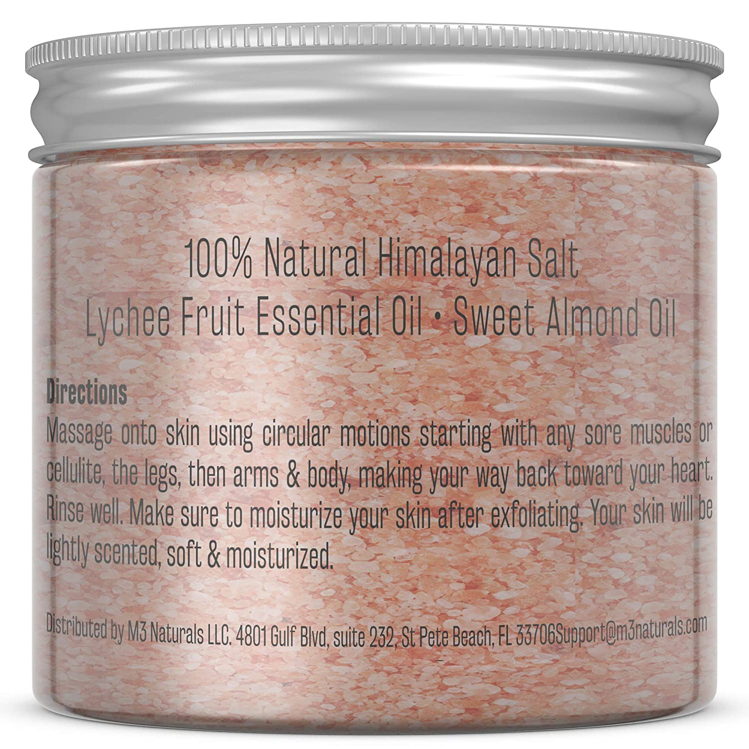 M3 Naturals Himalayan Salt Scrub Infused with Collagen and Stem Cell All Natural Body and Face