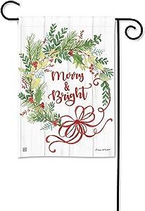 BreezeArt Studio M Winterberry Winter Christmas Garden Flag - Premium Quality, 12.5 x 18 Inches