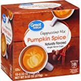 Great Value Pumpkin Spice Cappuccino Mix Naturally Flavored Single Serve Cups