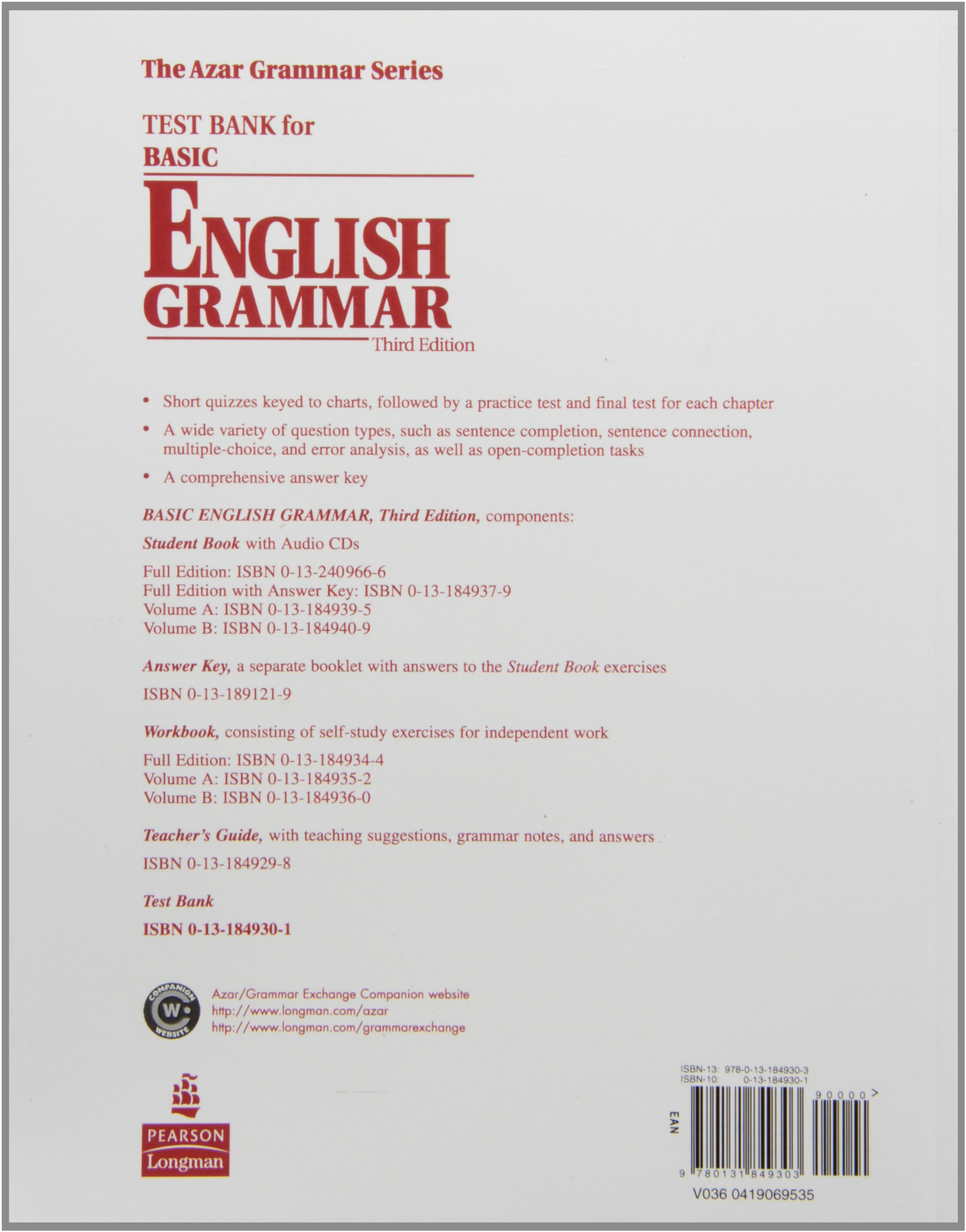 English grammar with a separate key volume