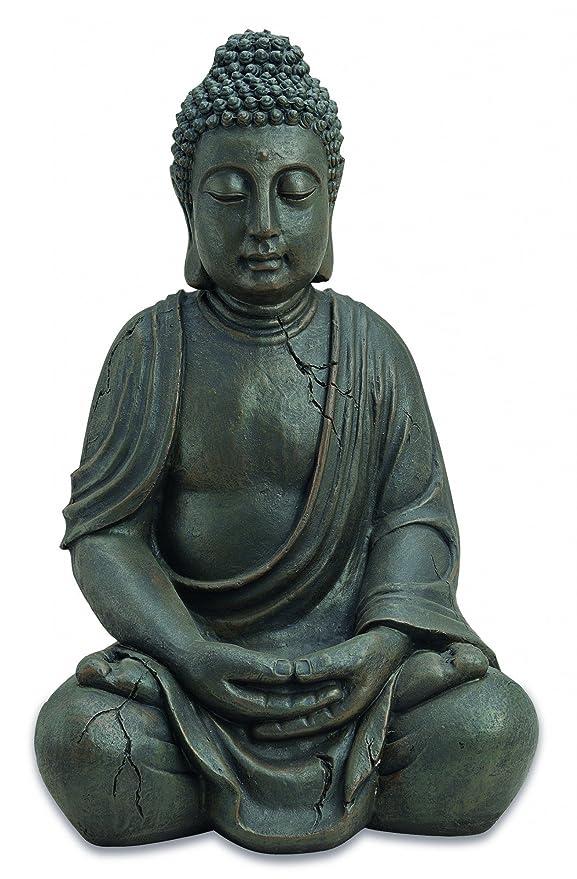 1 opinioni per Statuetta decorativa, soggetto Buddha seduto, in stile anticato, 51cm