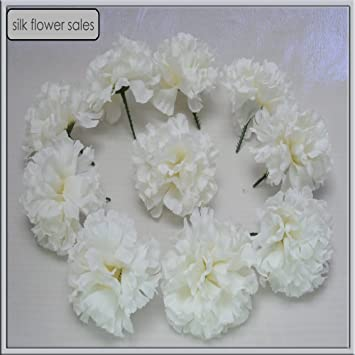 Amazon 20 cream carnation picks artificial silk flowers 20 cream carnation picks artificial silk flowers wedding buttonholesfuneral tributes by silk flowers mightylinksfo