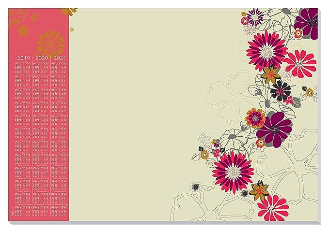 SIGEL HO430 Papier-Schreibunterlage mit 3-Jahres-Kalender, ca. DIN A2, 30 Blatt - weiteres Design