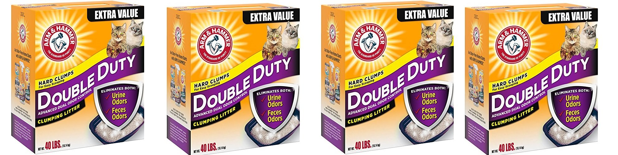 Arm & Hammer jMweXy Double Duty Clumping Litter, 40 Pounds (Pack of 4)