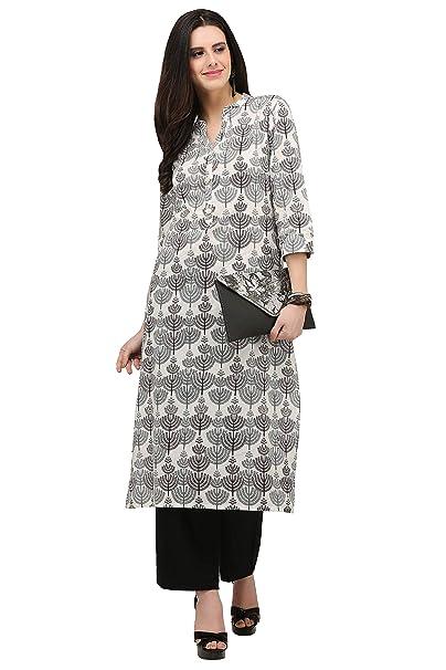 Amazon.com: Blusa para vestido de mujer, diseño indio Kurta ...