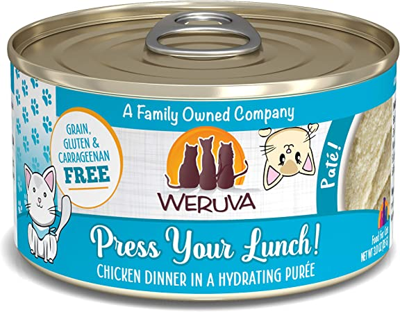 Amazon Com Weruva Classic Cat Pate Press Your Lunch With Chicken 3oz Can Pack Of 12 Pet Supplies