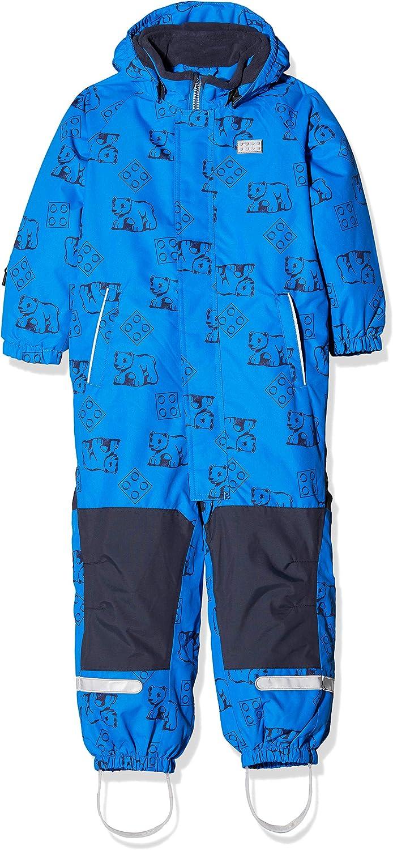 LEGO Wear Kids /& Baby Fleece-lined Wind// Waterproof Snowsuit With Lego Bear Print /& Detachable Hood