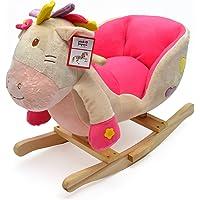 Pink Papaya Schaukeltier Emily Kinder und Baby Schaukelpferd, Schaukelstuhl für Kinder, Sitzhöhe ca. 30 cm